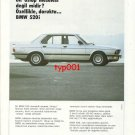 BMW - 1986 520i TASTE A MATTER OF STYLE TURKISH PRINT AD