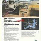 BMW - 1986 BMW ERGONOMY MASTER OF THE HUMAN & MACHINERY SYSTEM TURKISH PRINT AD