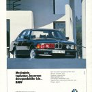 BMW - 1986 FOR THOSE AT THE SUMMIT OF SOCIETY & SUCCESS TURKISH PRINT AD