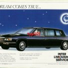 INTER LIMOUSINE SERVICE - 1986 A DREAM COME TRUE CADILLAC LIMOS TURKISH PRINT AD
