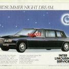 INTER LIMOUSINE SERVICE - 1986 CADILLAC 75 LIMOUSINES TURKISH PRINT AD
