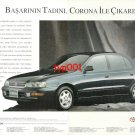 TOYOTA - 1993 TASTE OF SUCCESS WITH CORONA TURKISH PRINT AD - 01