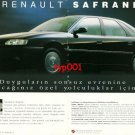 RENAULT - 1993 SAFRANE JOURNEY TO UNIVERSE OF SENSATIONS TURKISH PRINT AD