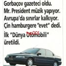 FORD - 1993 MONDEO FIRST WORLD AUTOMOBILE 2 PAGE TURKISH PRINT AD