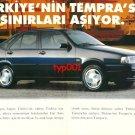 FIAT - 1995 TURKEY'S TEMPRA SURPASSES THE BORDERS TURKISH PRINT AD