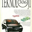 PEUGEOT - 1993 306 TECHNOLOGY TURKISH PRINT AD