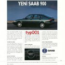 SAAB- 1993 NEW 900 SAFEST WAY TO OVERCOME MEDIOCRITY TURKISH PRINT AD