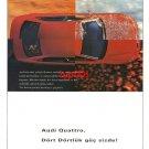 AUDI - 1996 QUATRO YOU HAVE FULL POWER TURKISH PRINT AD