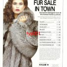 CYRIL KAYE & COMPANY - 1989 - HOTTEST FUR SALE IN TOWN PRINT AD