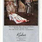 KAKAS - 1992 - MEN AND WOMEN IN FUR COATS PRINT AD