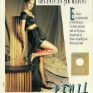 PENTI - 1991 TURKISH PANTYHOSE STAR MOST CHIC WOMAN OF THE NIGHT PRINT AD