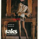 SAKS - 1992 TURKISH PANTYHOSE YOUR EXPECTATIONS PRINT AD