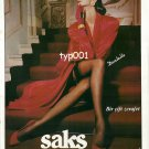 SAKS - 1992 TURKISH PANTYHOSE HOSIERY DANTELLE A PAIR OF ELEGANCE SEXY PRINT AD