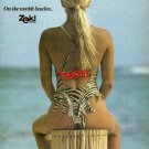 ZEKI TRIKO - 1987 - ZEKI SWIMSUITS ON WORLD BEACHES PRINT AD