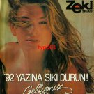 ZEKI TRIKO - 1992 - CINDY CRAWFORD BRACE YOURSELVES FOR '92 SUMMER PRINT AD