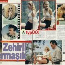 DREW BARRYMORE - 1992 TURKISH PRINT ARTICLE ON FILM POISON IVY