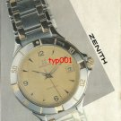 ZENITH - 1992 - ESPADA SUMMITS OF TIME TURKISH PRINT AD