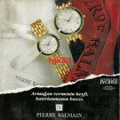 PIERRE BALMAIN - 1992 - THE PLEASURE OF BEING REMEMBERED TURKISH PRINT AD