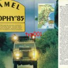CAMEL TROPHY - 1986 - TURKISH TEAM '85 BORNEO CAMEL TROPHY PRINT ARTICLE