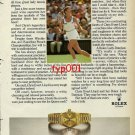 ROLEX - 1982 - PRO TENNIS LEGEND CHRIS EVERT LLOYD & HER ROLEX PRINT AD