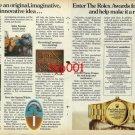 ROLEX - 1982 - ROLEX AWARDS FOR ENTERPRISE IMAGINATIVE INOVATIVE IDEAS PRINT AD