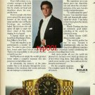 ROLEX - 1982 - TENOR PLACIDO DOMINGO & HIS FAVORITE INSTRUMENT PRINT AD