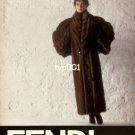 FENDI - 1986 - LADY IN RUSSIAN VISONE FUR COAT PRINT AD