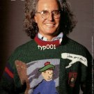BENETTON - 1986 - LUCIANO BENETTON MODELLING HIS TINTIN SWEATER PRINT AD