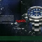 ROLEX - 2012 - SUBMARINER DATE LIVE FOR GREATNESS PRINT AD