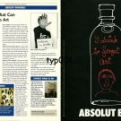 ABSOLUT - 1999 - ABSOLUT BEN - BEN: WORDS THAT CAN PUT TRUTH INTO ART PRINT AD