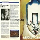 ABSOLUT - 1999 - ABSOLUT CLEMENTE - FRANCESCO CLEMENTE POETRY IN MOTION PRINT AD