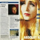 ABSOLUT - 1999 - ABSOLUT KANA - KATERINA KANA VISIONS MAKE ART A PARTY  PRINT AD