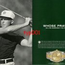 ROLEX - 2005 - WHOSE PRAYER WILL BE ANSWERED THIS YEAR PGA CHAMPIONSHIP PRINT AD