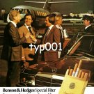 BENSON & HEDGES - 1980 - BUSINESS JET MERCEDES EXTRA SMOOTH CIGARETTE PRINT AD