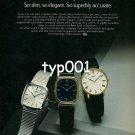 SEIKO - 1980 - MEN'S DRESS QUARTZ COLLECTION PRINT AD