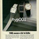 SEIKO - TIME MAG - 1980 - TIME MEANS A LOT TO SEIKO PRINT AD