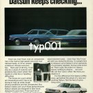 DATSUN NISSAN - 1980 - SO YOU KEEP ROLLING DATSUN KEEPS CHECKING PRINT AD