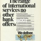 MIDLAND BANK - 1988 - WORLD WIDE FROM LONDON PRINT AD