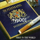 ROTHMANS - 1980 - GOLD BAND FILTER FIRST IN THE WORLD PRINT AD
