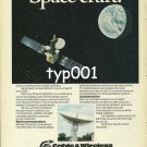 CABLE & WIRELESS - 1980 - SPACE CRAFT PRINT AD