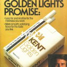 KENT - 1980 - THE GOLDEN LIGHTS PROMISE PRINT AD