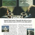 KLM - 1980 - SUPERB DUTCH PILOTS TRAINING PROGRAM PRINT AD
