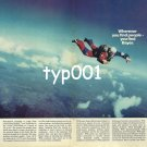 BAYER - 1980 - THE SKIES SCENE OF SPORTING ACHIEVEMENTS PARACHUTIST PRINT AD