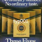 555 STATE EXPRESS - 1980 - NO ORDINARY NUMBER NO ORDINARY TASTE PRINT AD