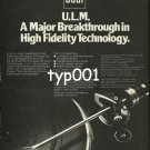DUAL - 1980 - ULM A MAJOR BREAKTHROUGH IN HIGH FIDELITY TECHNOLOGY PRINT AD