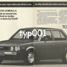 TOYOTA - 1980 - COROLLA IN A CLASS BY ITSELF PRINT AD