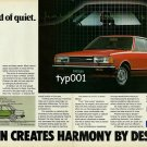 DATSUN NISSAN - 1980 - LISTEN TO THE SOUND OF QUIET PRINT AD