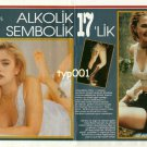 DREW BARRYMORE - 1992 - 17 YEARS OLD ALCHOLIC AND SYMBOLIC TURKISH PRINT ARTICLE