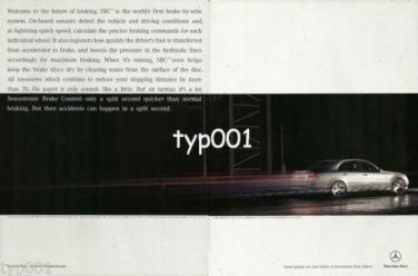 MERCEDES BENZ - 2004 - SENSOTRONIC BRAKE CONTROL PRINT AD