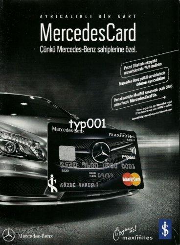 ISBANK - 2013 -  MERCEDES CREDIT CARD TURKISH PRINT AD